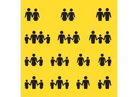 Familien-Vektor-Icons