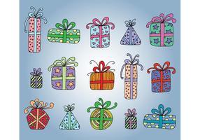 Kostenlose Vektor Geschenkboxen