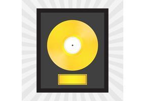 Guld rekord vektor