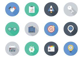 Kostenlose Flat Business Vector Icons