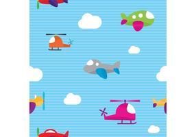 Söt flygplan vektormönster vektor