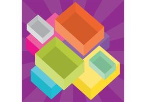 Färgglada boxvektorer