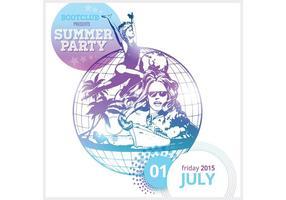 Freier Sommer-Party-Plakat-Vektor vektor