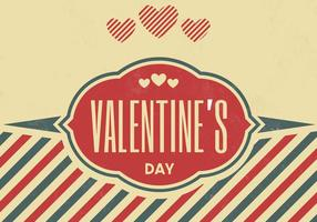 Jahrgang Valentinstag Vektor Hintergrund