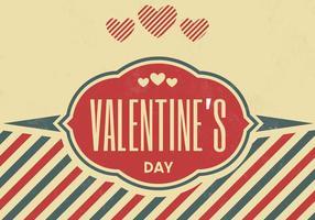 Vintage Valentinsdag Vector Bakgrund