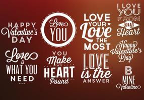 Alla hjärtans dag etiketter vektor pack