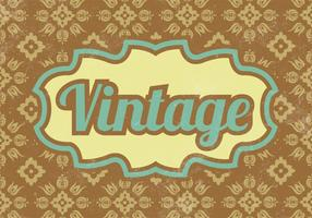 Patterned Vintage Vektor Hintergrund