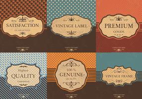 Vintage Etikett Vector Bakgrund Pack