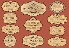 Vintage Etiketter Vector Set