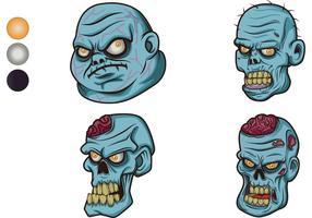 Kostenlose Zombie Vektoren