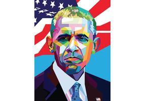 Gratis Färgrik Obama Vector Porträtt