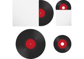 Vinyl Disc Vektor Aufzeichnungen