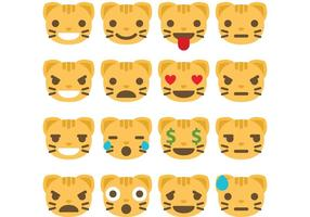 Katt Emoticon Vectors
