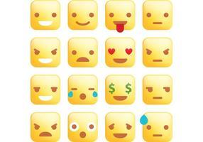 Kvadratiska emoticonvektorer