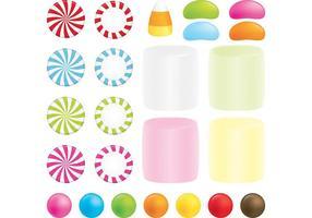 Pfefferminz Süßigkeiten Vektor Set