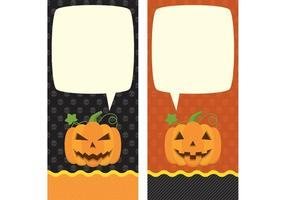 Halloween kort vektorer
