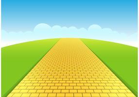 Gelbe Brick Road Vector