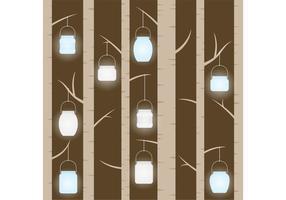 Mason Jar Hängen in Bäume Vektor