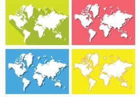 Platt världskarta vektorer