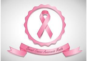 Bröstcancermedvetenhetbandvektor