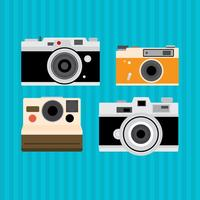 Alte Vintage Kamera-Vektoren