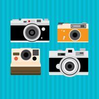 Gamla Vintage Kamera Vektorer