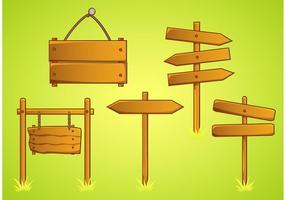 Rustikale Zeichen Vektoren