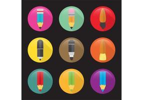 Flache Kunst Vektor Icons