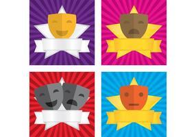 Theater Vektor Gesichter Hintergründe