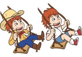 Kinder Swinging Vector Pack
