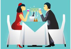 Abendessen Tabelle Einstellung Vektor