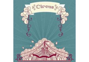 Vintage cirkus vektor tält