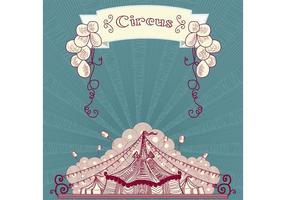 Vintages Zirkus-Vektorzelt