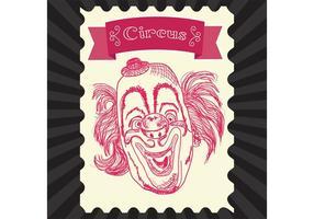 Vintage cirkus vektor clown