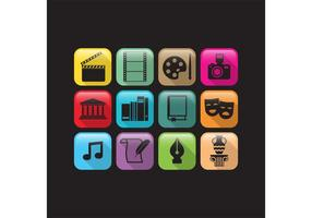 Flache Kunst und Kultur Vector Icons