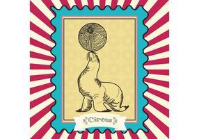 Vitnage Zirkus-Vektor-Siegel-Karte