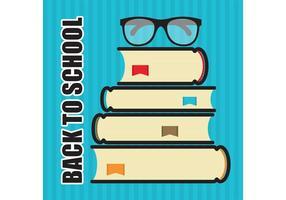 Zurück zu Schule Stapel Bücher Vektor