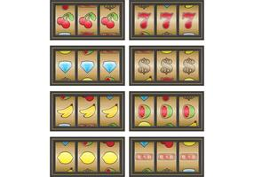 Gold Spielautomaten Vektoren