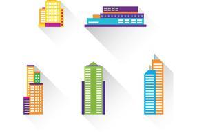 Långa skuggbyggnadsvektorer
