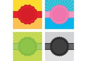 Ribbon Badge Vector Bakgrunder