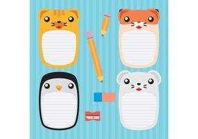 Nette Tier Vektor Notebooks
