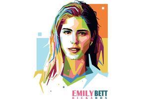 Emily Bett Rickards Vektor Porträt