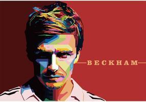 David Beckham Vektor Porträt