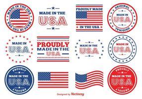 Gemacht in den USA vektor Briefmarken