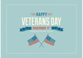 Gratis Glad Veterans Dag Vector Bakgrund