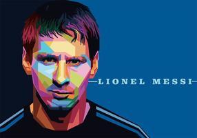 Lionel Messi Vektor Porträt