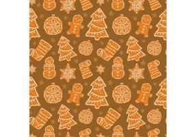 Gratis jul efterrätt vektor sömlös mönster