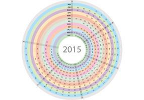 Cirkulär daglig planerare vektor