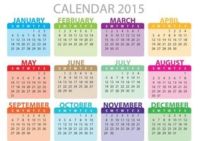 Monatlicher Tagesplaner Vektor