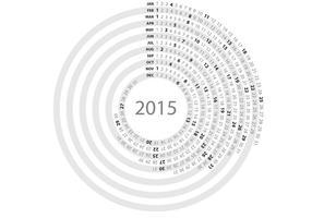 Einfacher Kreis Täglicher Planer Vektor